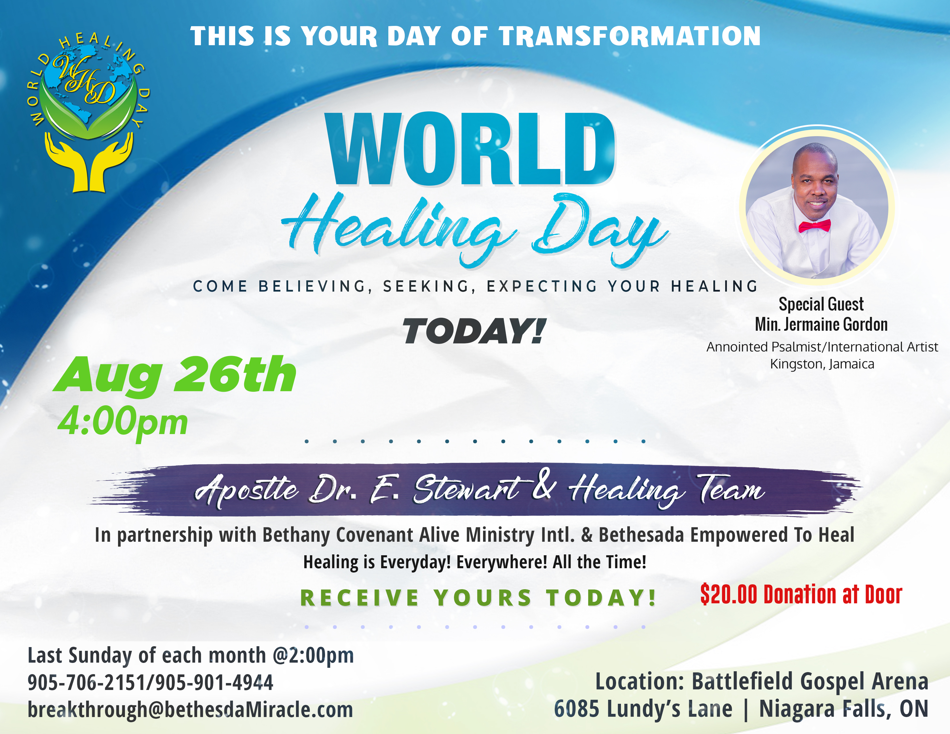World Healing Day with Jermaine - update